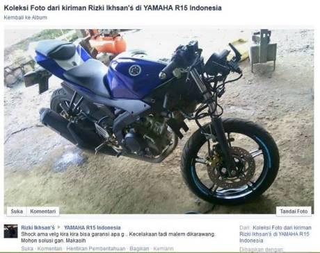 yamaha R15 kecelakaan apakah bisa garansi