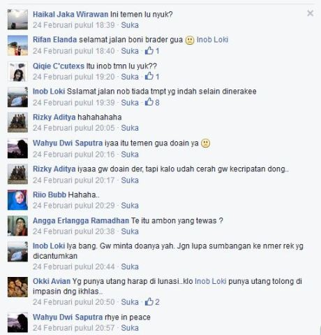 Akun Facebook Begal tangerang yang di bakar masa 001