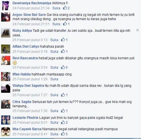 Akun Facebook Begal tangerang yang di bakar masa 002