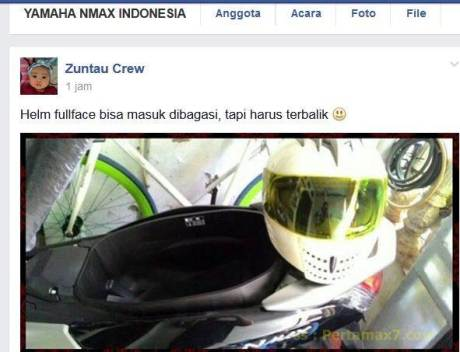 bagasi yamaha nmax muat helm full face