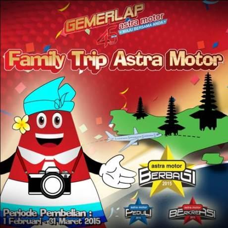 Astra Motor Family Trip memberikan kesempatan bagi konsumen Honda yang melakukan pembelian di jaringan dealer Astra Motor untuk berlibur ke Bali bersama keluarga.