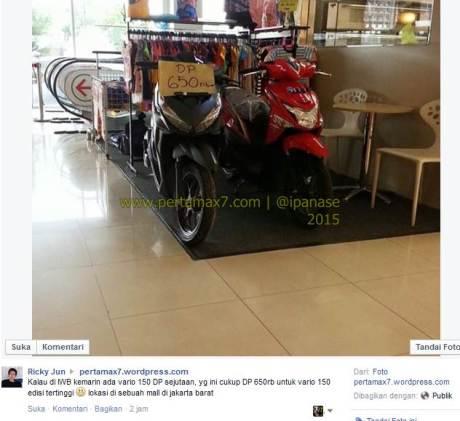 Cukup DP  Rp. 650 ribu bisa bawa pulang honda vario 150  di mall jakarta Pertamax7.com