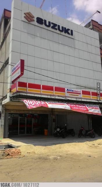 dealer suzuki tutup ganti alfamart