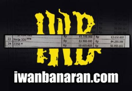 harga kawasaki Ninja300 Indonesia