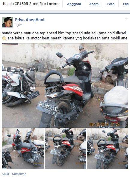 kecelakaan verza shock patah