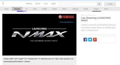 Live Streaming LAUNCHING Yamaha NMAX 155 terbaru