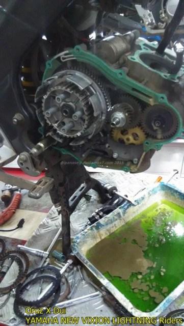 Mesin yamaha New Vixion hancur setelah terjang banjir 003 Pertamax7.com
