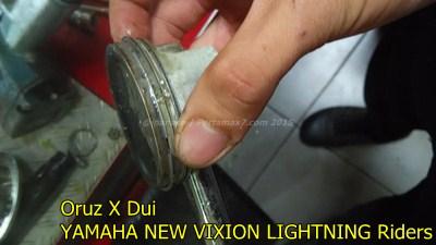 Mesin yamaha New Vixion hancur setelah terjang banjir 006 Pertamax7.com