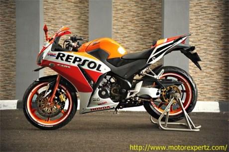 Modifikasi Honda CBR150R lokal Pro Arm VRF400 007 Pertamax7.com