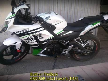 Modifikasi Kelir Honda CBR150R lokal K45 Streetfire Mugen Power asal Jatim 002 Pertamax7.com