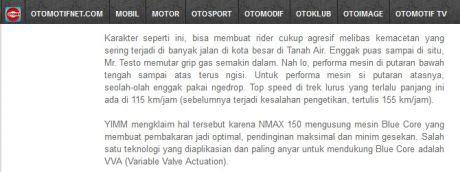otomotifnet tospeed yamaha nmax 115 km per jam
