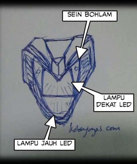 sketsa headlamp-honda sonic reborn K56A