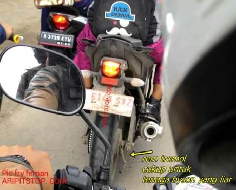 yamaha byson injeksi 2015 indonesia rem tromol