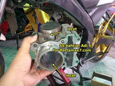 yamaha new vixion oli kering piston piston ngejam diacyl cylinder beset bored up 200