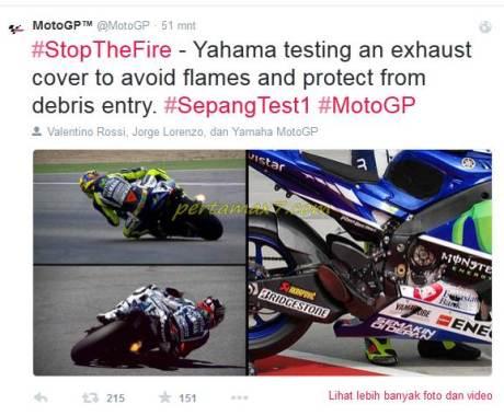 yamaha testing an exhaust cover M1 sepang 2015