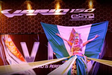 Salah satu peserta Vario 150 eSP Modern Dance Competition tampil impresif pada perlombaan yang digelar pada hari ketiga.