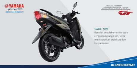 ban dan velg belakang yamaha all new soul gt 125 blue core selebar yamaha X-Ride