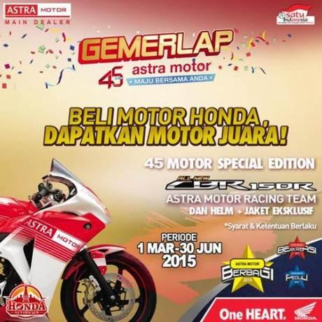 beli motor honda dapat CBR150R dari Astra Motor