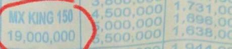 harga yamaha jupiter mx king 150 injeksi di Jogja