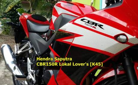 honda CBR150R naik cc jadi 250 modal stiker pertamax7 2