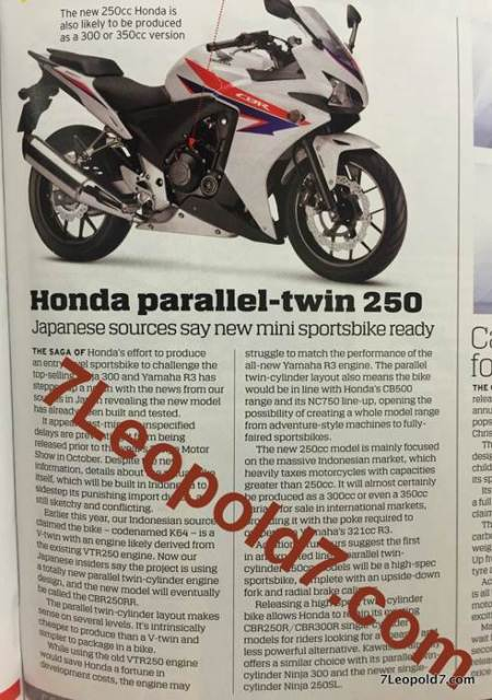 honda CBR250RR parallel Twin