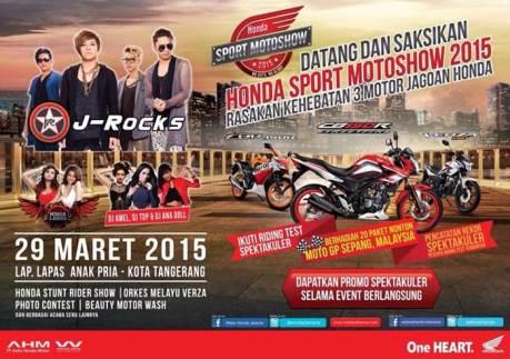 Honda Sport Motorshow 2015 Tangerang dimeriahkan J-Rock pertamax7.com