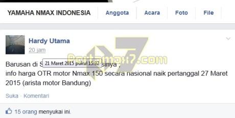 info yamaha nmax naik harga per 27 maret 2015