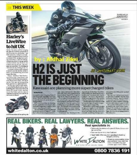 Kawasaki Akan Tanam Supercharged di banyak motor,  Ninja H2 cuma permulaan