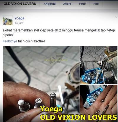 Klep yamaha Vixion patah karena ngelitik 000 Pertamax7.com