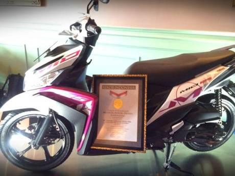 Mio M3 Raih Rekor MURI Sepeda motor matik dengan ketahanan operasional mesin secara nonstop terlama 30 hari