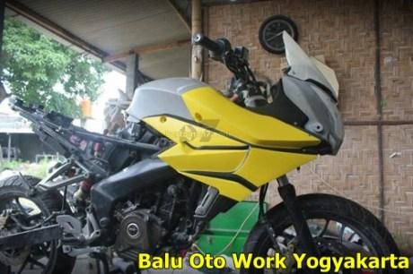 Modifikasi Kawasaki Bajaj Pulsar 200NS Jadi Bajaj Pulsar 200 AS ala balu Oto Work 000 Pertamax7.com