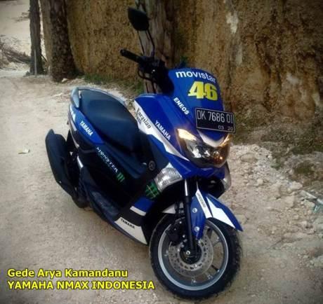 modifikasi yamaha nmax  livery motogp valentino rossi
