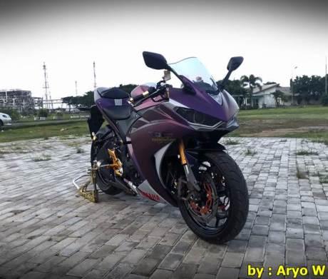 Modifikasi Yamaha r25 Bunglon ala Aryo W005 Pertamax7.com