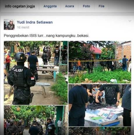 Penggerebekan diduga ISIS di Bekasi indonesia 000 Pertamax7.com