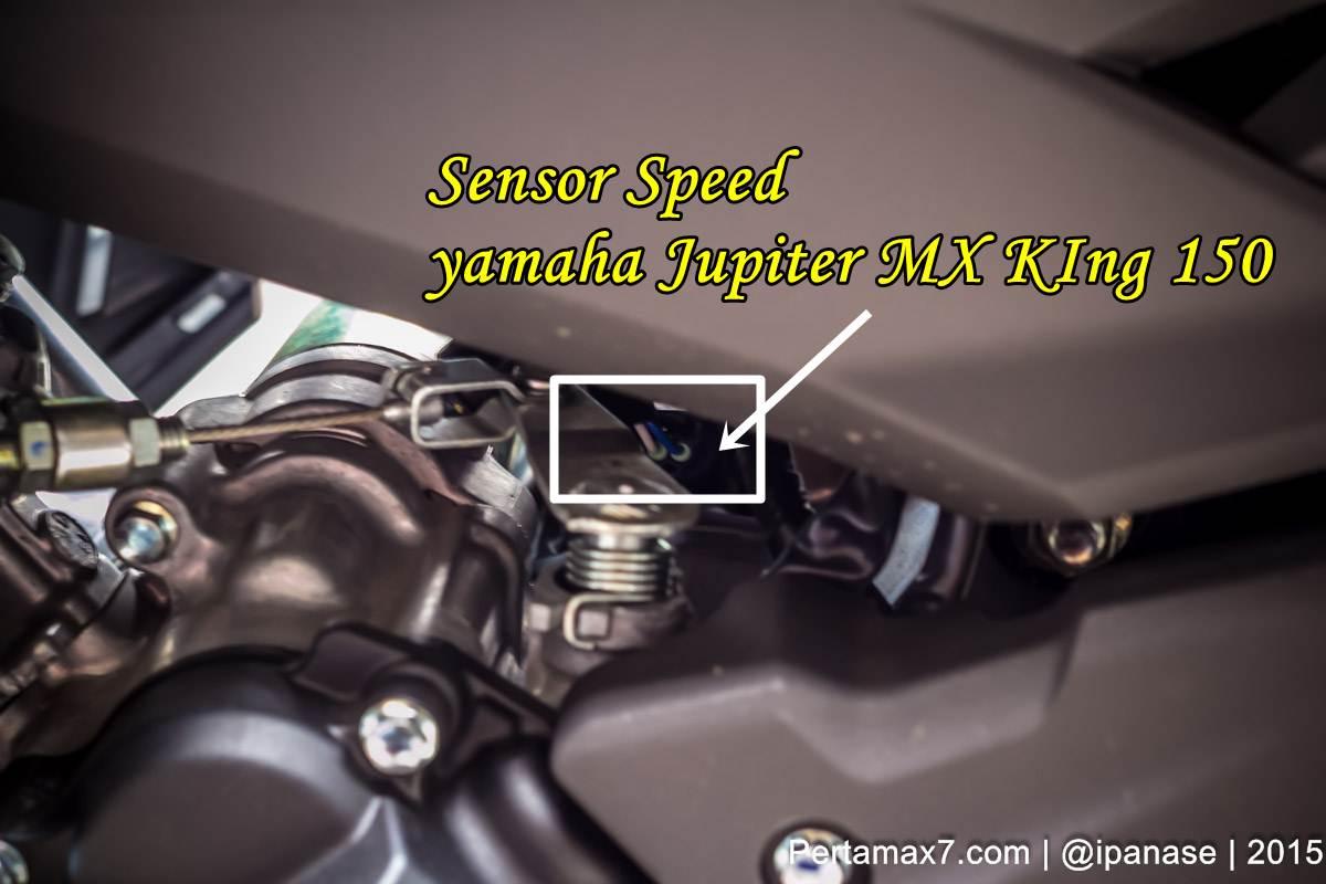 Sensor Speedometer Yamaha Jupiter MX King 150 Berada Di Mesin