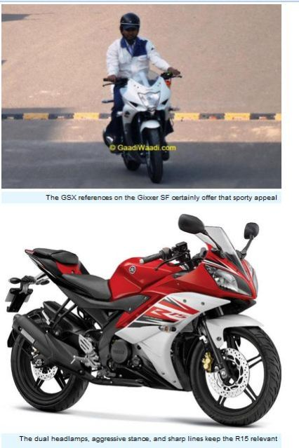 Suzuki Gixxer SF VS Yamaha R15 comparison 002pertamax7.com