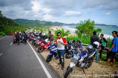 Touring Gabungan Yamaha R15 Sejatim dihadiri 200 Motor ke pantai soge Pacitan Pertamax7.com-104