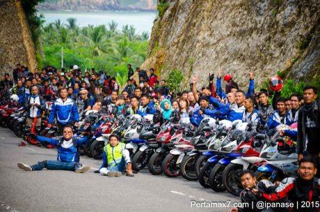 Touring Gabungan Yamaha R15 Sejatim dihadiri 200 Motor ke pantai soge Pacitan Pertamax7.com-50