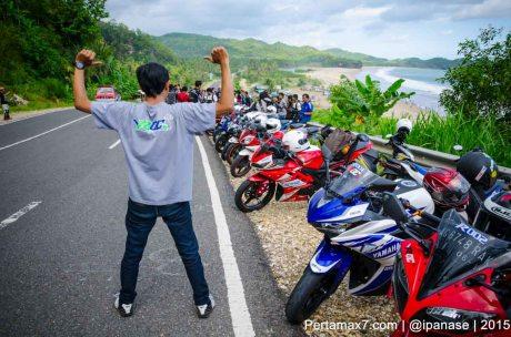Touring Gabungan Yamaha R15 Sejatim dihadiri 200 Motor ke pantai soge Pacitan Pertamax7.com-75