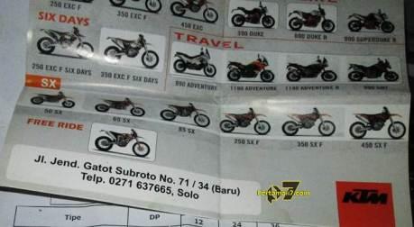 dealer KTM area jawa tengah