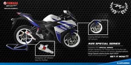 Habiskan Stok rakitan 2014,Yamaha Indonesia luncurkan R25 Special Series LImited Edition