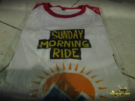 hadiah Kaos Sunday morning Riding dari Kucay lampung 001 Pertamax7.com