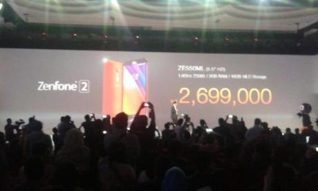 harga asus zenfone 2 ze550ml Ram 2 GB layar HD
