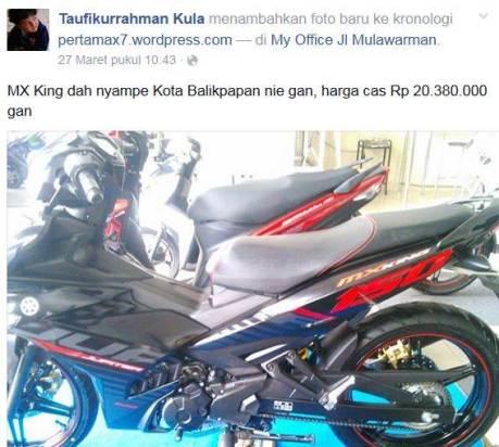 harga yamaha jupiter mx king 150 Rp. 20 jutaan di balikpapan