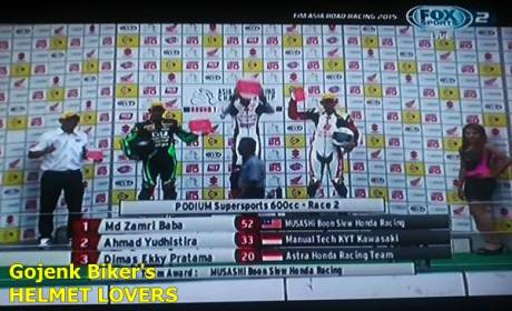 hasil race 2 ARRC 2015 seri 1 kelas supersport 600 cc
