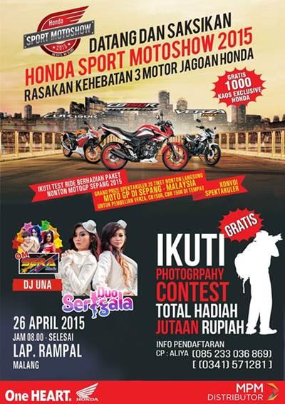 Honda Sport Motorshow 2015 di Malang Dimeriahkan DJ Una dan Duo Serigala