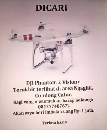Info Kehilangan Drone DJI Phantom di Jogja