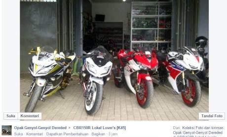 kala Kawasaki ninja 250 FI jejer yamaha R25 dan Honda CBR150R lokal