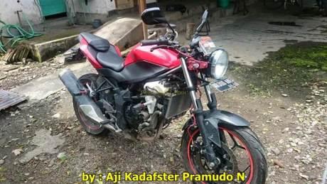 Kawasaki Ninja 250RR mono jadi naked lampu bulat 001 Pertamax7.com