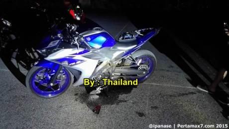 Kecelakaan yamaha R3 di Thailand 01  Pertamax7.com